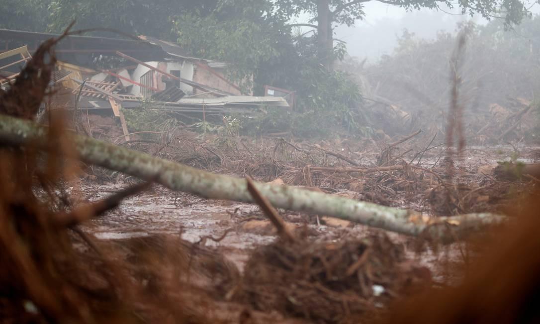 Casa destruída pela enxurrada de lama depois que uma barragem de rejeitos da mineradora Vale rompeu no distrito de Córrego do Feijão, em Brumadinho ADRIANO MACHADO / REUTERS