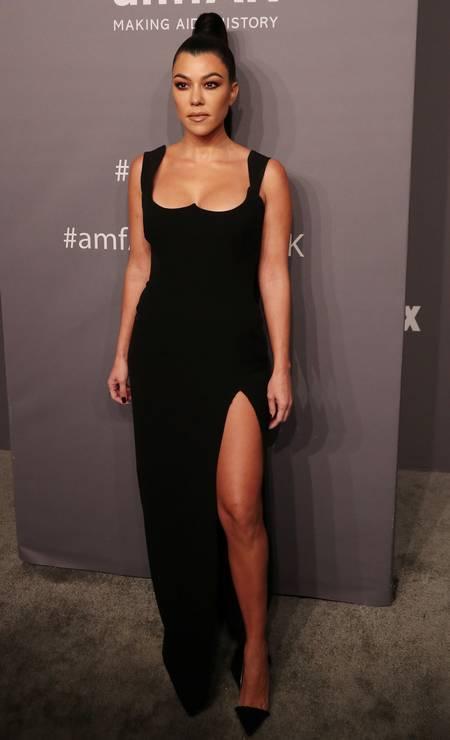 Kourtney Kardashian: sexy from Versace Photo: SHANNON STAPLETON / REUTERS