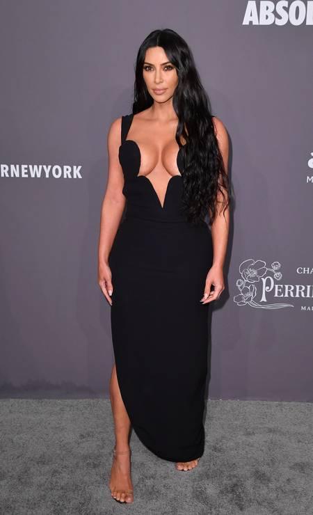 Kim Kardashian, powerful from Versace Photo: ANGELA WEISS / AFP