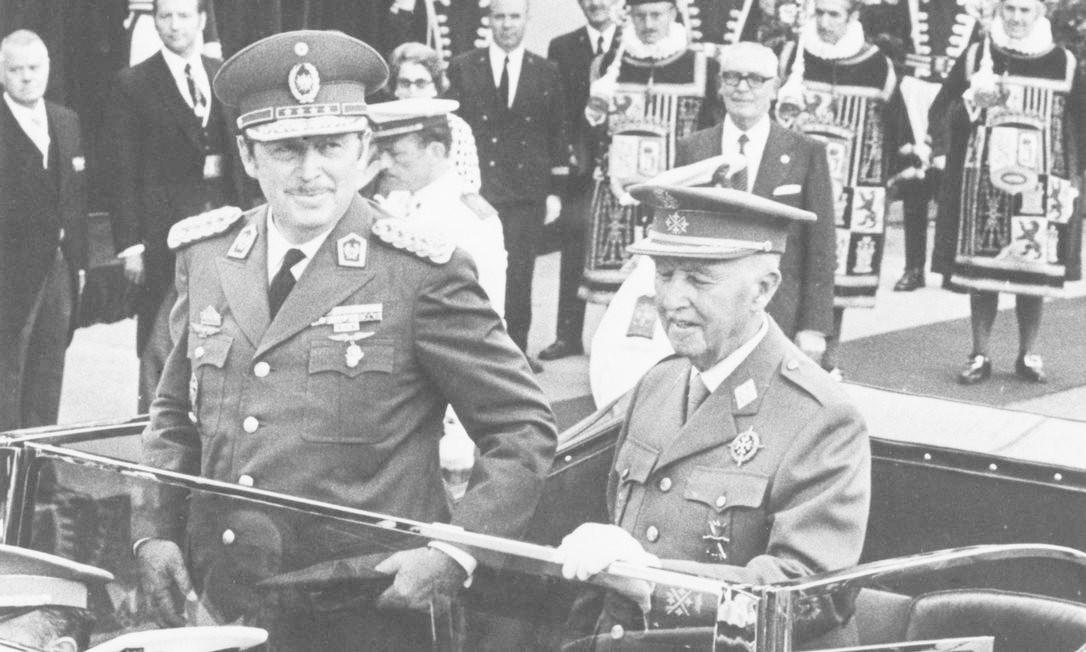 O ditador do Paraguai Alfredo Stroessner ao lado do ditador da Espanha Francisco Franco, 1973 Foto: Keystone / Getty Images
