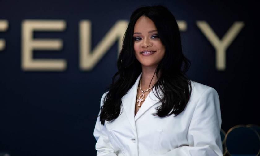 Rihanna participates in promotional event of her brand Fenty in Paris Photo: MARTIN BUREAU / AFP