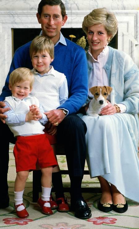 Charles, Harry, William and Diana: Family Portrait Photo: Tim Graham / Tim Graham Photo Library via Get