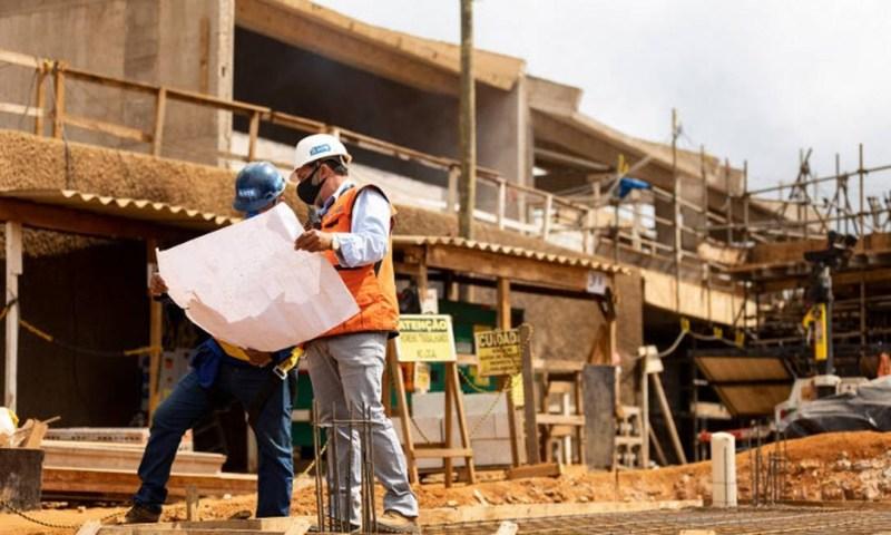 Infraestrutura de Bento Rodrigues está em estágio avançado e casas são construídas Foto: Divulgação