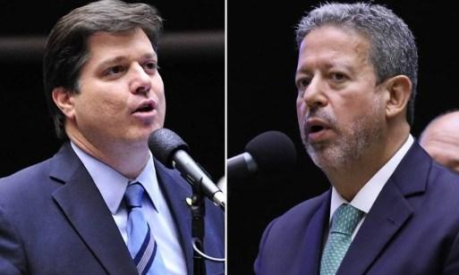 Os deputados Baleia Rossi (MDB-SP) e Arthur Lira (PP-AL), candidatos à presidência da Câmara Foto: Montagem com fotos de Divulgação/Câmara dos Deputados