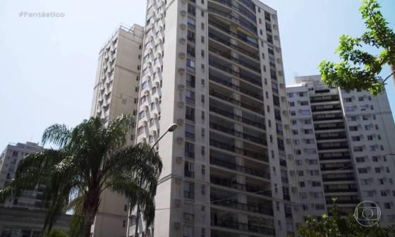 Condomínio Majestic, na Barra da Tijuca, Zona Oeste do Rio, onde o menino Henrique morava com a mãe e o padrasto. Foto: Reprodução / TV Globo