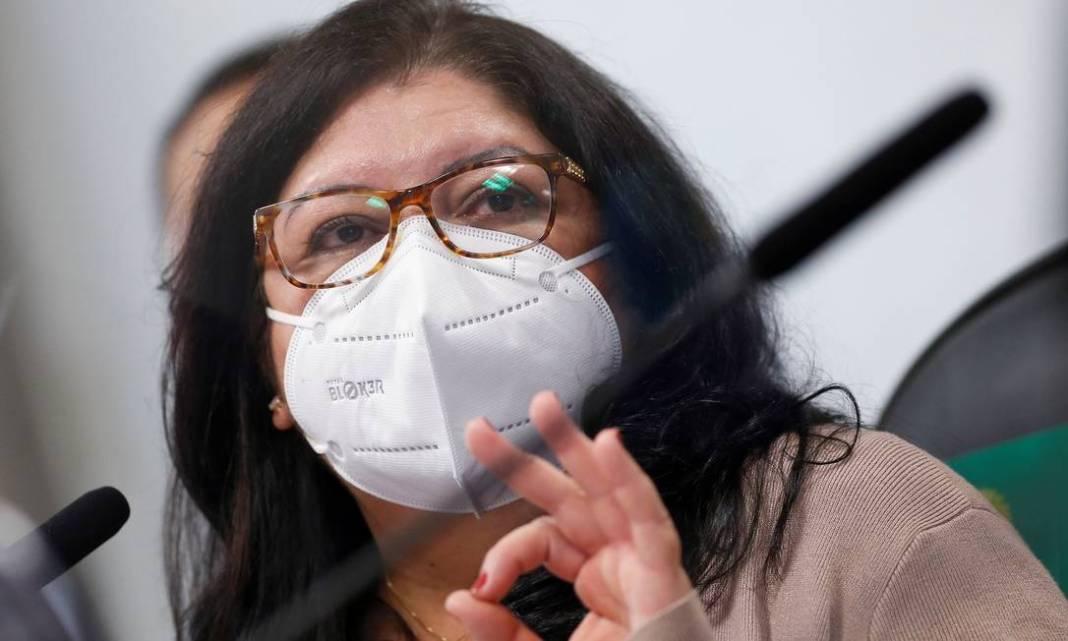 A servidora do Ministério da Saúde Regina Célia Silva Oliveira, durante o depoimento à CPI da Covid, disse não ter visto