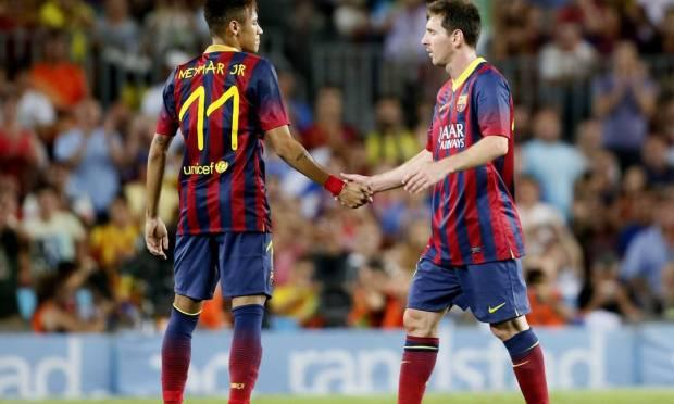 At Camp Nou in 2013, during Neymar's first season at the Catalan club Photo: Gustau Nacarino / REUTERS