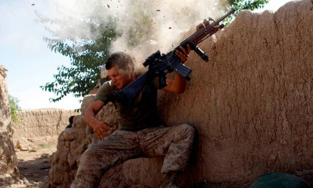 US Marine Protects From Taliban Attack in Helmand Province, Afghanistan Photo: GORAN TOMASEVIC / REUTERS - 05/18/2008