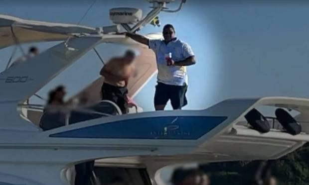 Glaidson Acácio dos Santos, arrested in Operation Kryptos, enjoys a yacht valued at more than R$ 3 million Photo: Reproduction / Agência O Globo