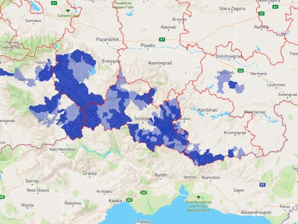 Distribution of Pomak culture in Bulgaria