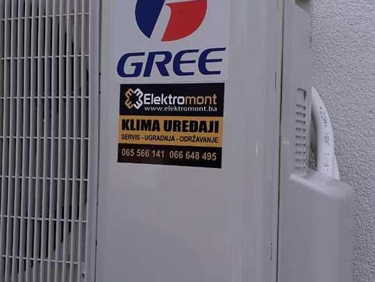 AKCIJA-Klima Gree 12 BORA 2019 sa ugradnjom 670 KM Elektromont Banja Luka 065/566-141