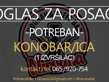 Oglas za posao I POTREBAN KONOBAR/ICA HOOKAH&CAFFE BAR NIRVANA Banja Luka