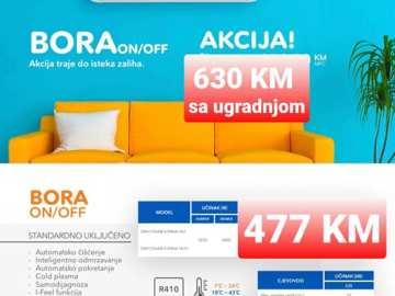 AKCIJA !!! AKCIJA-Klima Gree12 BORA 2021 on-off sa ugradnjom 630 KM Elektromont Banja Luka 065 566 141