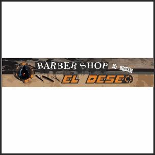 Diseño de rotulo para el Barbershop El Deseo
