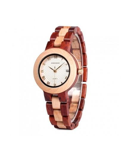 Модерен дамски дървен часовник - Manila (еко продукт)