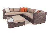 Liana 6 piece modular patio furniture sectional set | Ogni