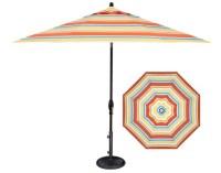 Striped patio umbrella in 9 foot Barcelona style fabric | Ogni