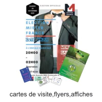 cartes de visite flyers affiches personnalisable ografX