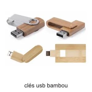 clés usb bambou ografx publicitaire