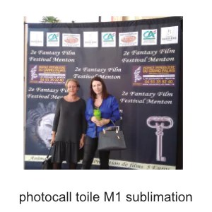 photocall toile M1 sublimation