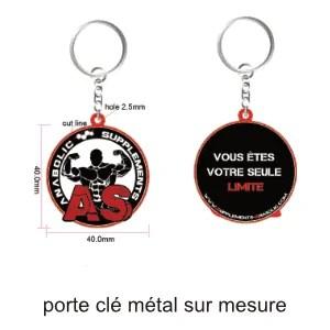 porte clé métal sur mesure publicitaire ografx