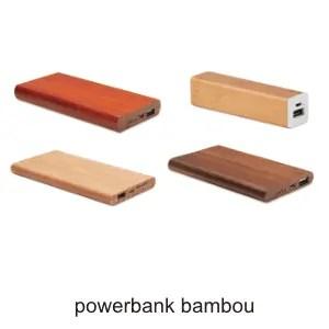 powerbank bambou ografx objet publicitaire USB
