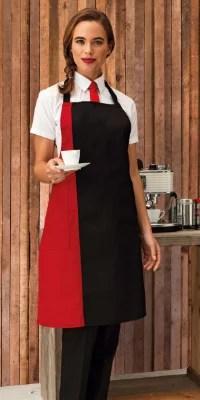 tablier serveur bicolore publicitaire ografx