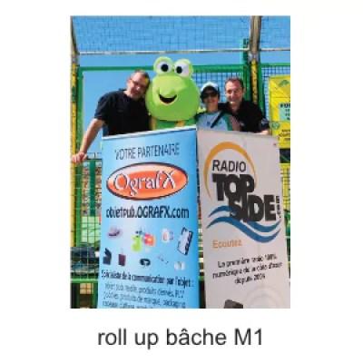 roll up kakemono bache PVC M1
