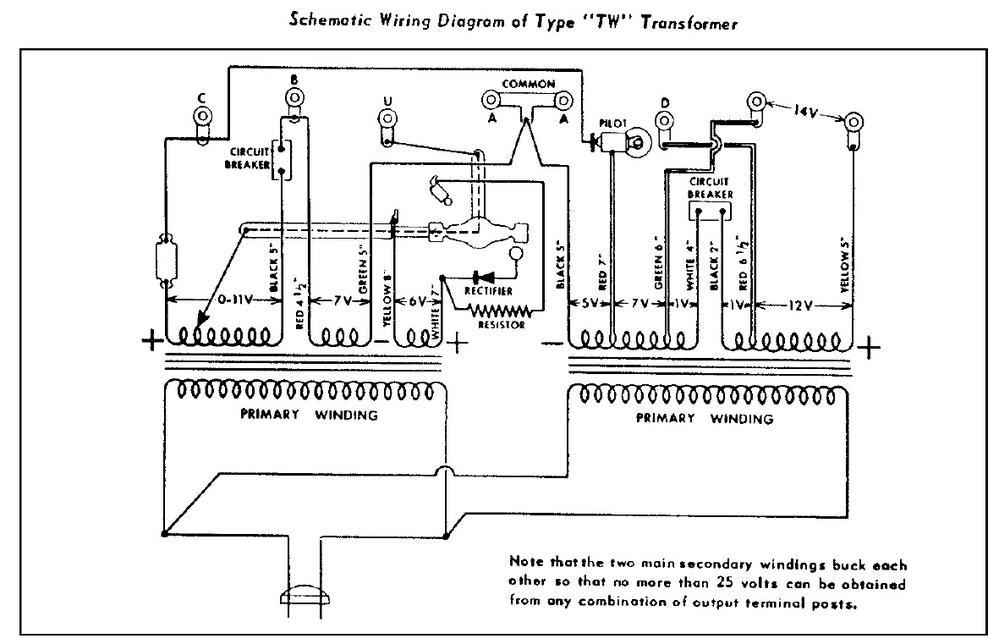 Lionel Kw Transformer Schematic Lionel Train Schematics