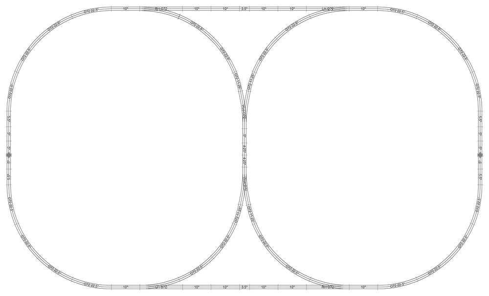 Double reversing loop track layout design using SCARM and