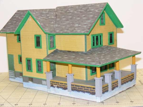 A Christmas Story Paper House  O Gauge Railroading On Line Forum