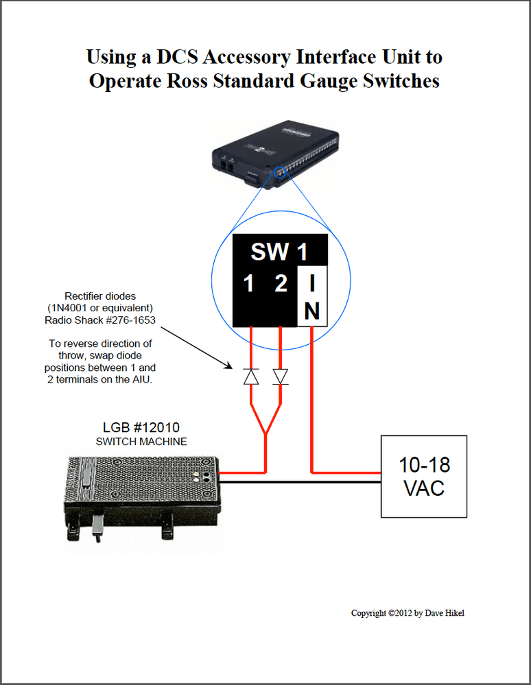 Dcs Wiring Diagram Lgb Switch Machines And Mth Dcs O Gauge Railroading On