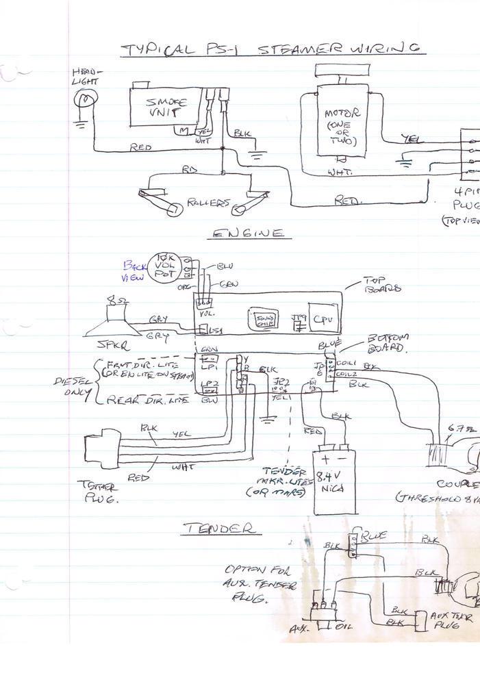 lionel tender wiring diagram