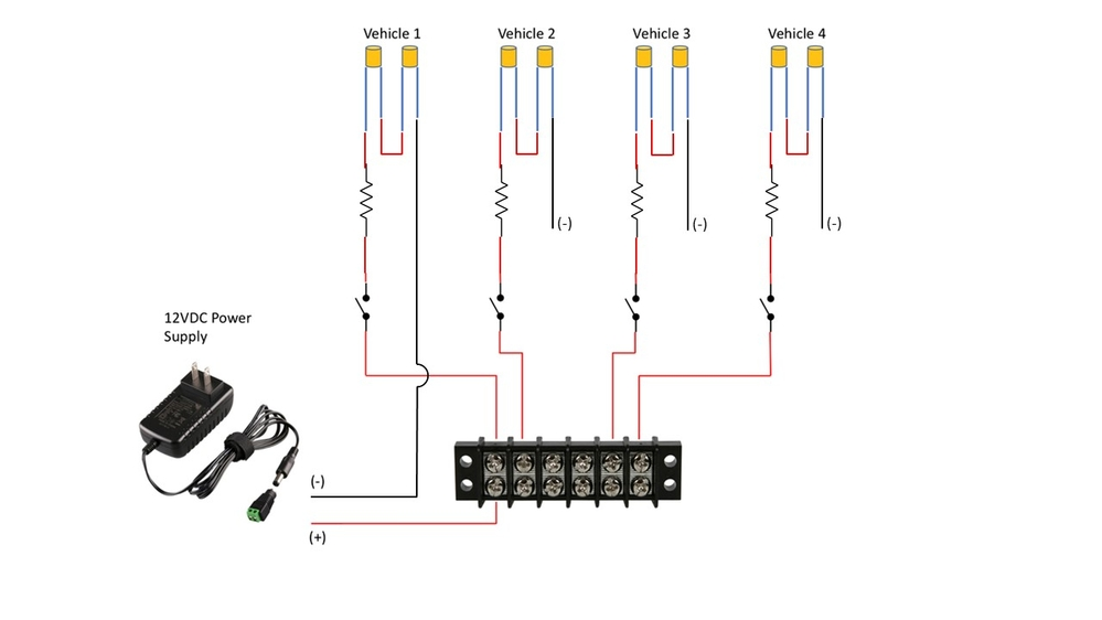 wiring up multiple leds