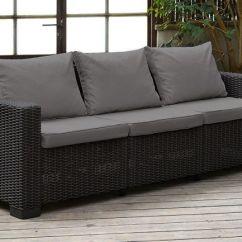 Sofa 4 Seater Cover With Fabric Zestaw Mebli Ogrodowych California 3 Grafit ...