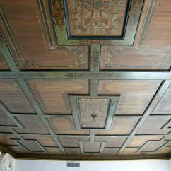 Glass Kitchen Table Sets Cheap Hotels In Negril With Customer Showcase: Hand-stenciled Wooden Ceiling | Olde ...