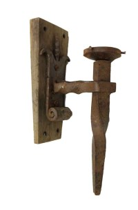 Primitive Wrought Iron Sconces from France | Olde Good Things