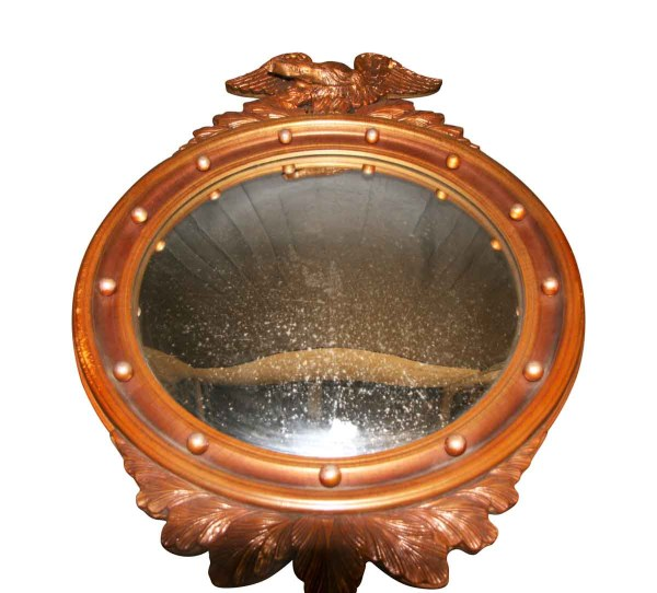 Vintage Antique Round Mirror