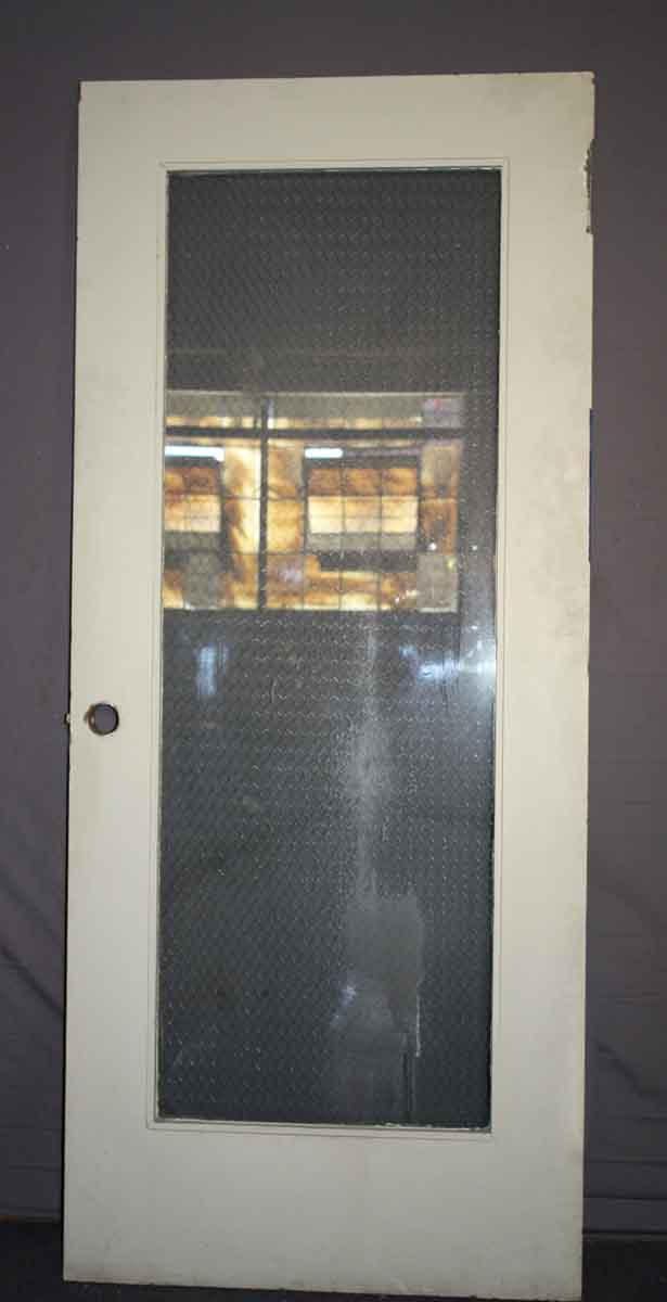 Wooden Door with Chicken Wire Glass  Olde Good Things