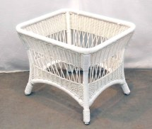 Five Piece White Wicker Patio Set Olde Good