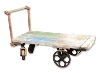 Cool Antique Industrial Cart with Cast Iron Wheels | Olde ...