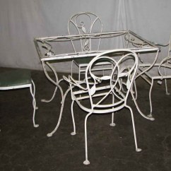Wrought Iron Kitchen Chairs European Cabinets Salterini Patio Table And Olde Good Things