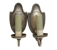 Antique Pair of Silver Single Arm Sconces | Olde Good Things