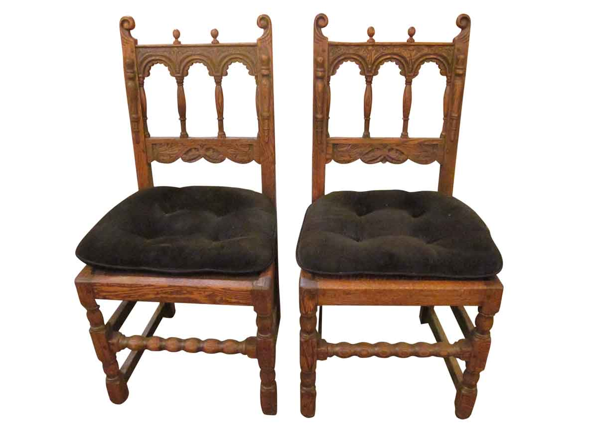solid wood kitchen chairs chair covers wedding birmingham pair of carved olde good things