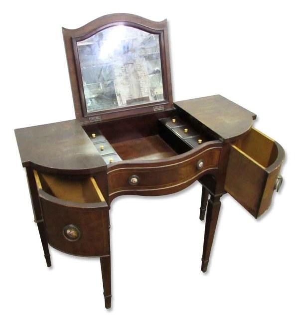 1920s Antique Desk & Vanity Duo Olde Good