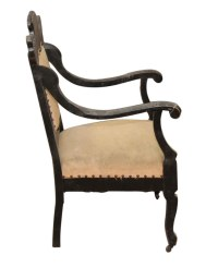 Cool Detailed Vintage Chair on Wheels | Olde Good Things