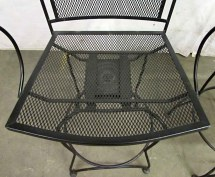 Tall Wrought Iron Swivel Chairs Olde Good
