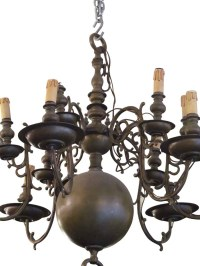 Twelve Arm Bronze Colonial Style Chandelier | Olde Good Things