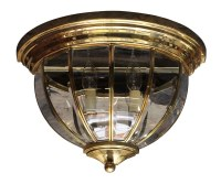 Brass Flush Mount Two Arm Wall Sconce | Olde Good Things