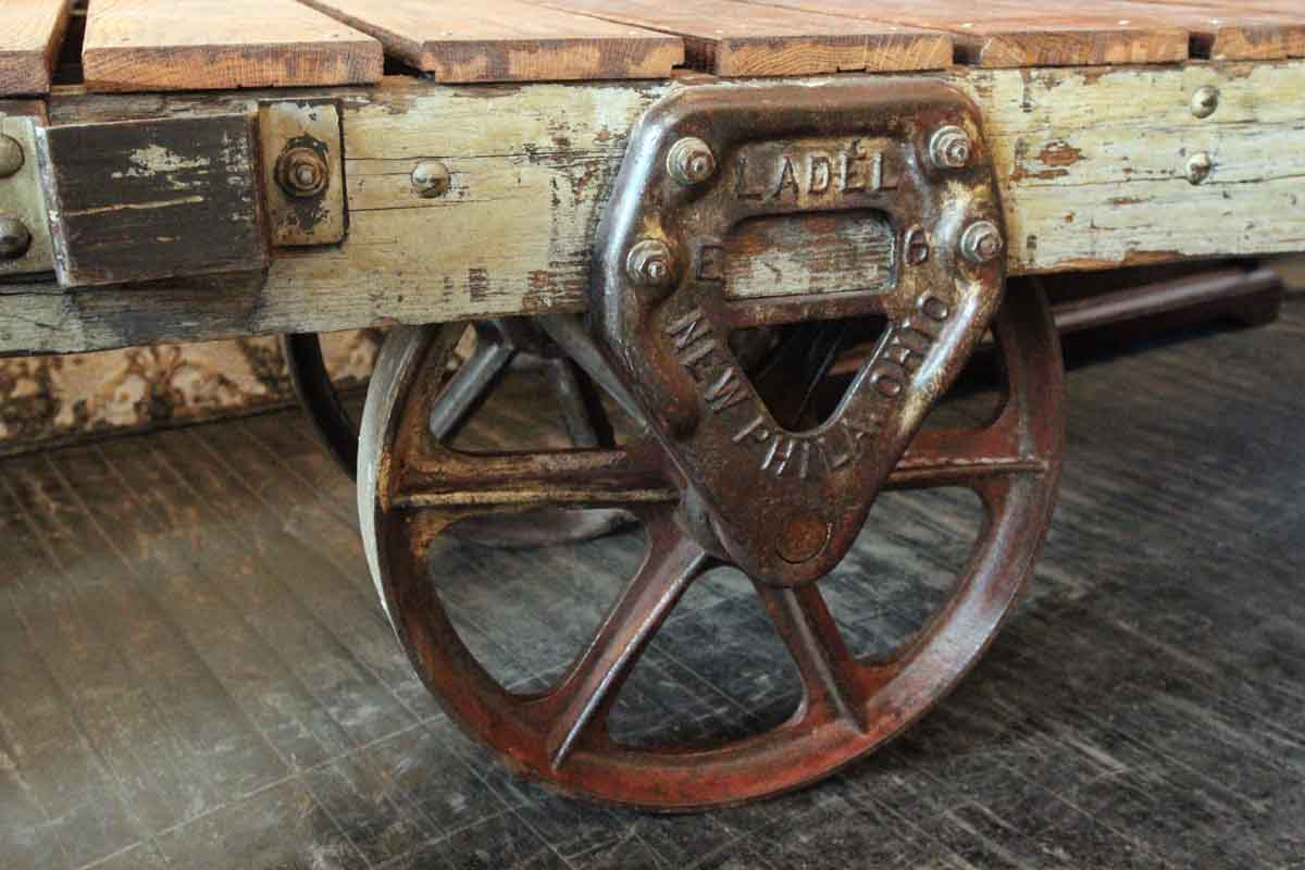 industrial vintage factory cart